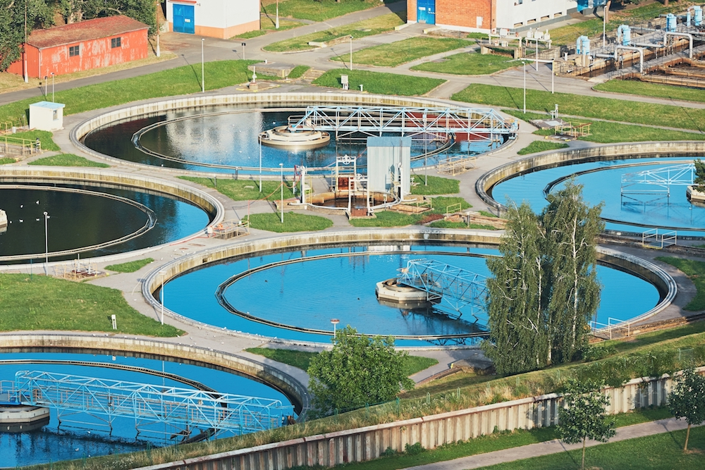 Water recycling in large sewage treatment plant.
